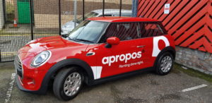 Mini with branding applied